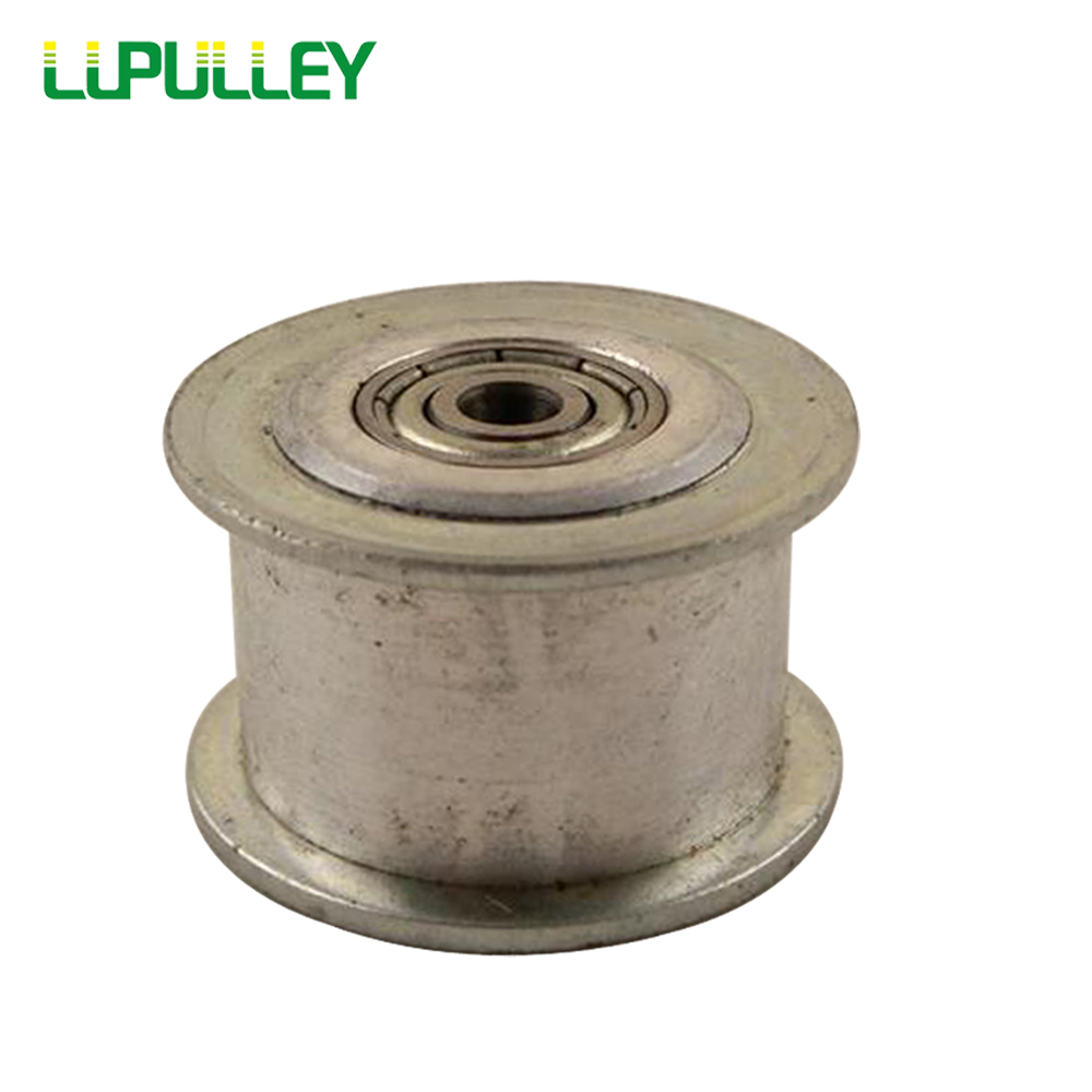 LUPULLEY 3M Idler Pulley 40T Synchronous Pulley Tensioner Wheel 5/6/7/8/10/12/15mm Bore with Bearing Guide Regulating Pulley lupulley 25t 5m idler pulley tensioner bore 5 6 7 8 10 12 15mm with bearing guide regulating synchronous htd5m pulley 25t