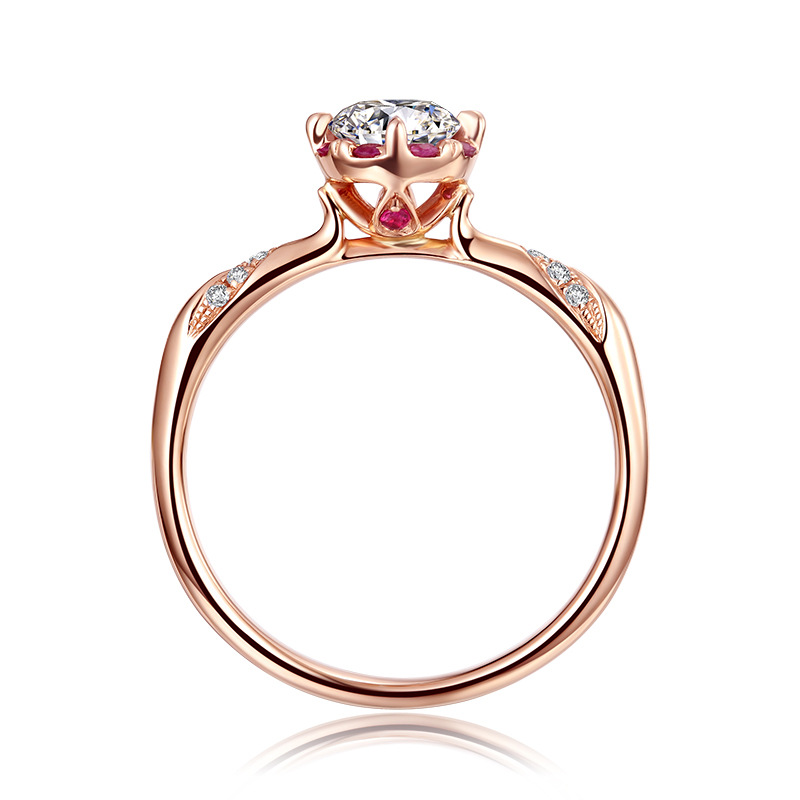 Proposal Ring for Women Lover Fiancee AAA Cubic Zircon Stone Romantic Ring Gems Jewelry Genuine 925 Sterling Silver Ring Gift
