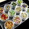Japanese Nail Art Fashion Random 12 Colors Mixture Pointy Back Nail Art Glass Rhinestone Glitter Nail