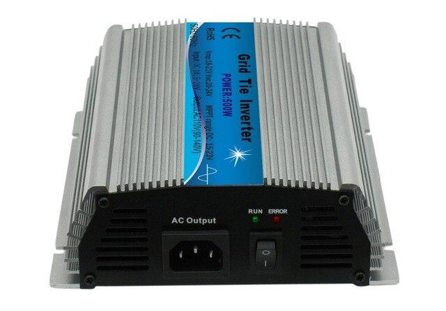 Микро сетевой инвертор, одобренный CE mppt 500 Вт 18 в 10,5-28 В постоянного тока, 120 в или 230 В переменного тока, 500 Вт Солнечная энергия на сетке инвертор