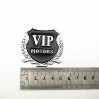 diy car 2pcs/Lot 3D VIP MOTORS Logo Metal Car Chrome Emblem Badge Decal Door Window Body Auto Decor DIY Sticker Car Decoration Styling (4)