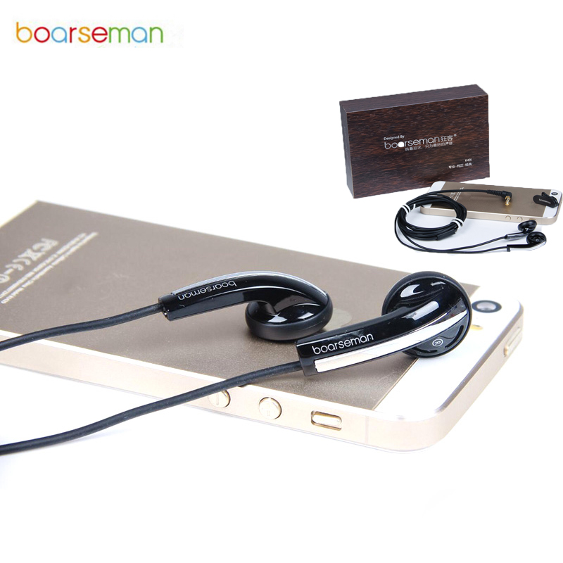 Original Boarseman K49 In Ear Earphone HiFi Dynamic Music Earbuds Bass Earphone for iphone 6 for Samsung s7 for xiaomi phones