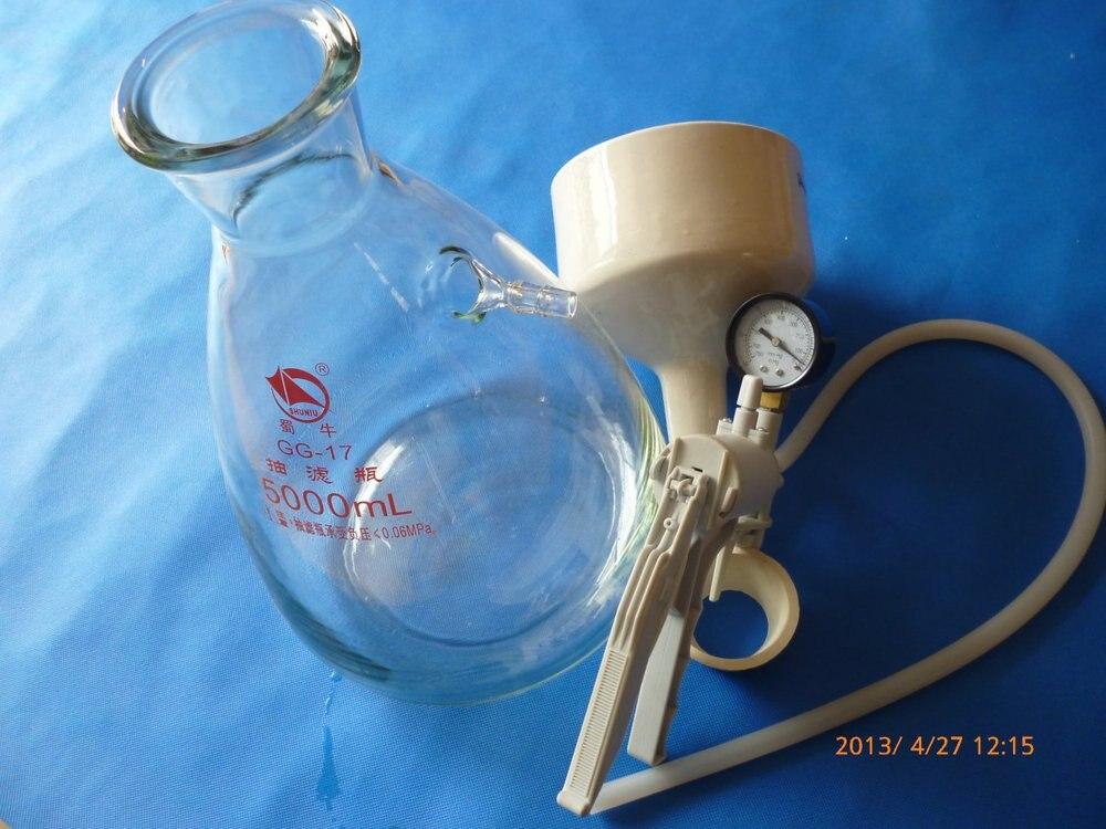 5000 ml (5L) Buchner Imbuto Apparatus, Filting Kit Imbuto, con la mano pompa a vuoto
