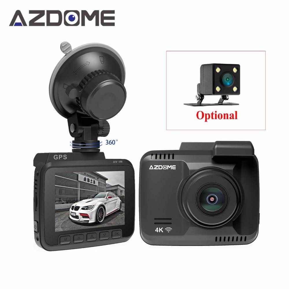 Azdome GS63H Dash Cam Double Lentille GPS Intégré WiFi FHD 1080 P avant + VGA Arrière Caméra 4 K 2880x2160 P Voiture Dvr Véhicule Dashcam