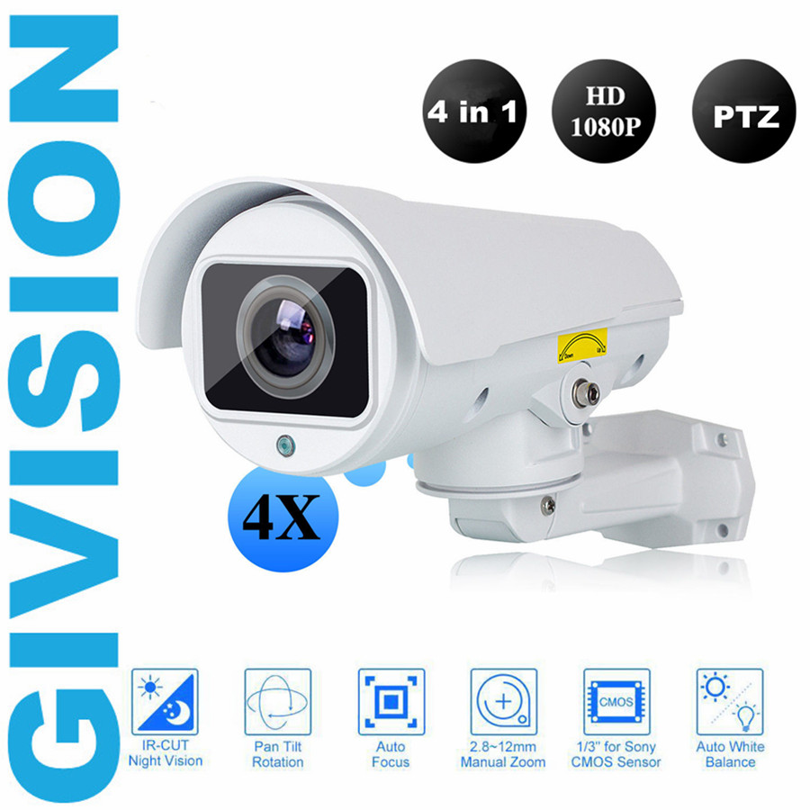 4 In 1 CVI TVI AHD 1080P mini PTZ Camera 2mp outdoor cctv Security bullet pan tilt 4x zoom video surveillance analog ptz camera 4 in 1 ir high speed dome camera ahd tvi cvi cvbs 1080p output ir night vision 150m ptz dome camera with wiper