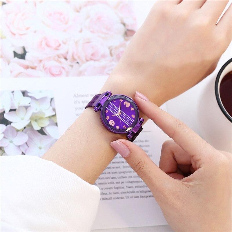 2019 Top Brand Luxury Magnetic Starry Sky Women's Watch Women Bracelet Watch For Ladies Wrist Watch reloj mujer relogio feminino(China)