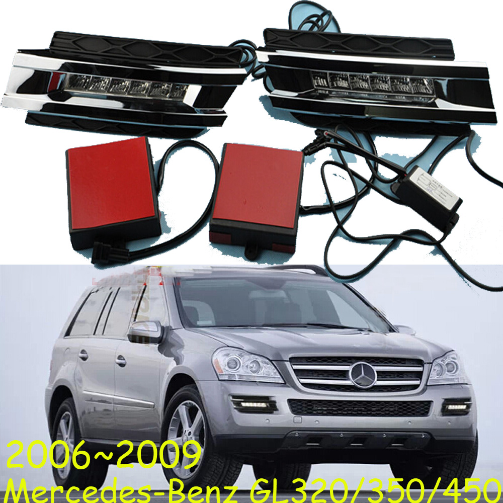 GL450 daytime light;2006~2009, Free ship!LED,GL450 fog light,2ps/set;GL Class:GL320 GL350 GL450 car styling led daytime light for mercedes benz gl gl350 gl400 gl450 gl500 x164 2006 2009 led drl with fast delivery