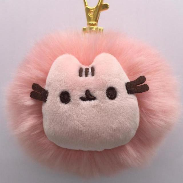 342891112 2017 Kawaii Brinquedos Pusheen Cat Rabbit Fur Chain Toys Stuffed & Plush  Animals Bag Accessory Soft