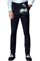 Fanzhuan Free Shipping New Fashion Male Men S Trousers Casual Pants Cotton Personality Embroidered Black 618060