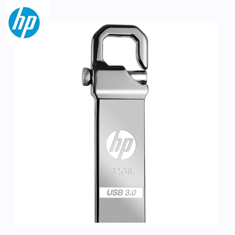 HP Metal USB Flash Drive 32GB 64GB DIY Pendrive X750W Cle USB 3.0 Memory Stick Key Thumb Hook Lock Fles Disk On Key Free Shiping