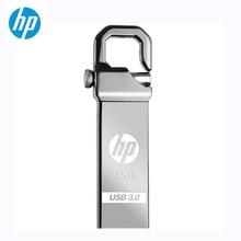 флешка Металлический флеш-накопитель hp 32 Гб 64 Гб DIY Pendrive X750W Cle USB 3,0 Memory Stick Key Thumb Hook Lock Flies диск на ключ бесплатная доставка флэшка