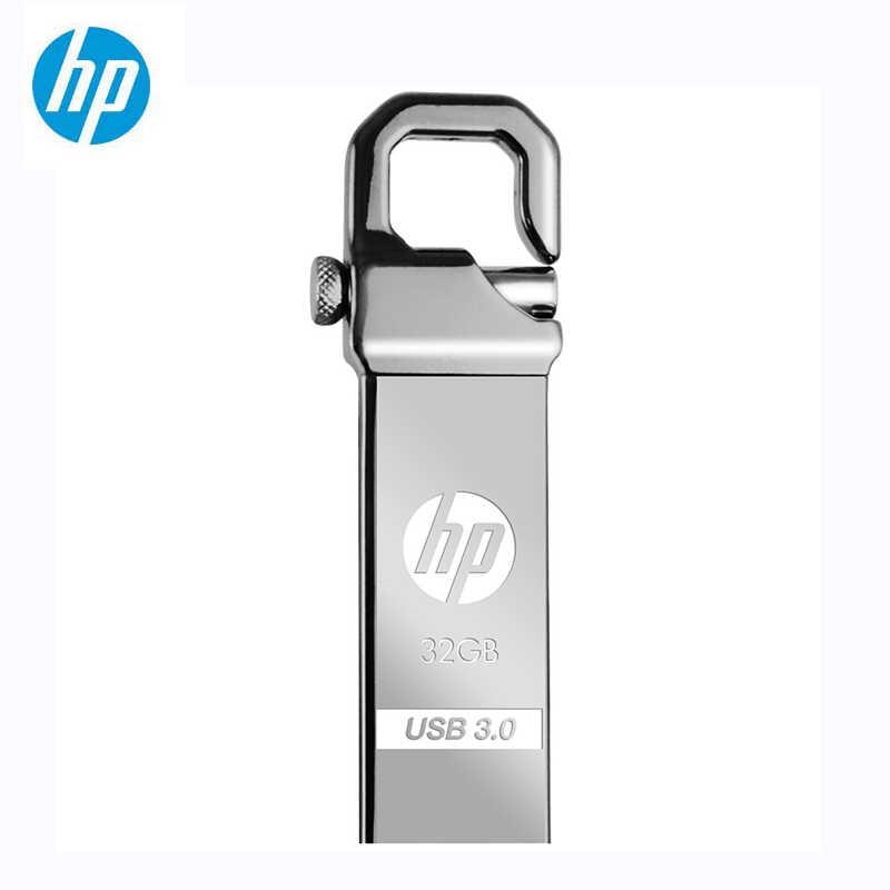 HP de Metal unidad Flash USB 32GB 64GB de memoria X750W Cle USB 3,0 memoria clave el gancho bloqueo de disco de Fles en el envío sin llave