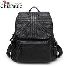 CHISPAULO натуральная кожа рюкзак Фирменная Новинка Пояса из натуральной кожи Для женщин Рюкзаки дамы девушка школьная сумка из натуральной коровьей кожи Mochila N024