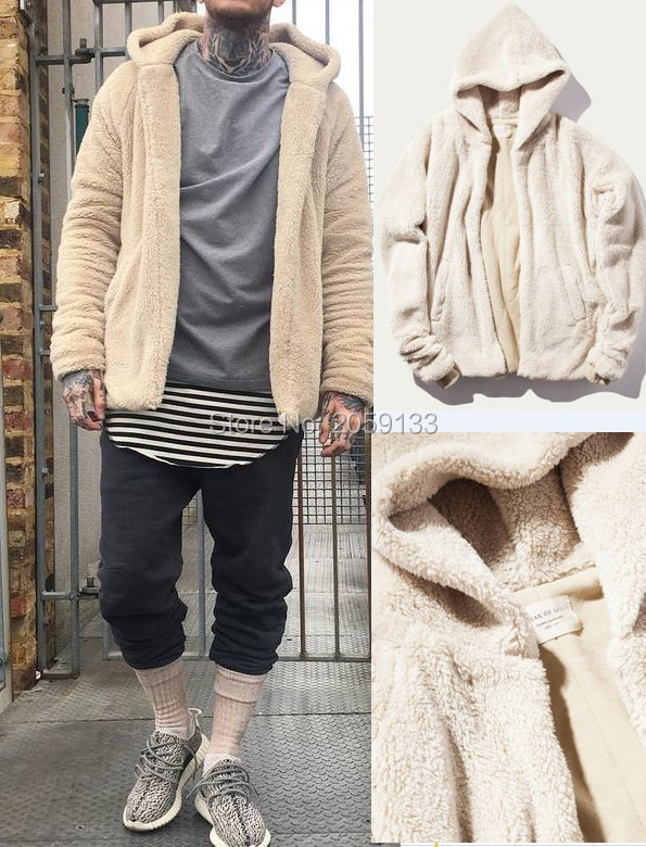 Beige Fleece Jacket - Coat Nj