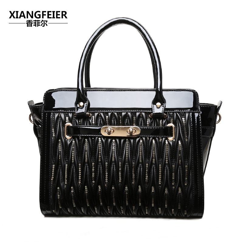 2016 lock bag spring and summer women's patent leather handbag one shoulder cross-body bag wings fashion handbag bag 2016 fashion spring and summer crocodile pattern japanned leather patent leather handbag one shoulder cross body bag for women