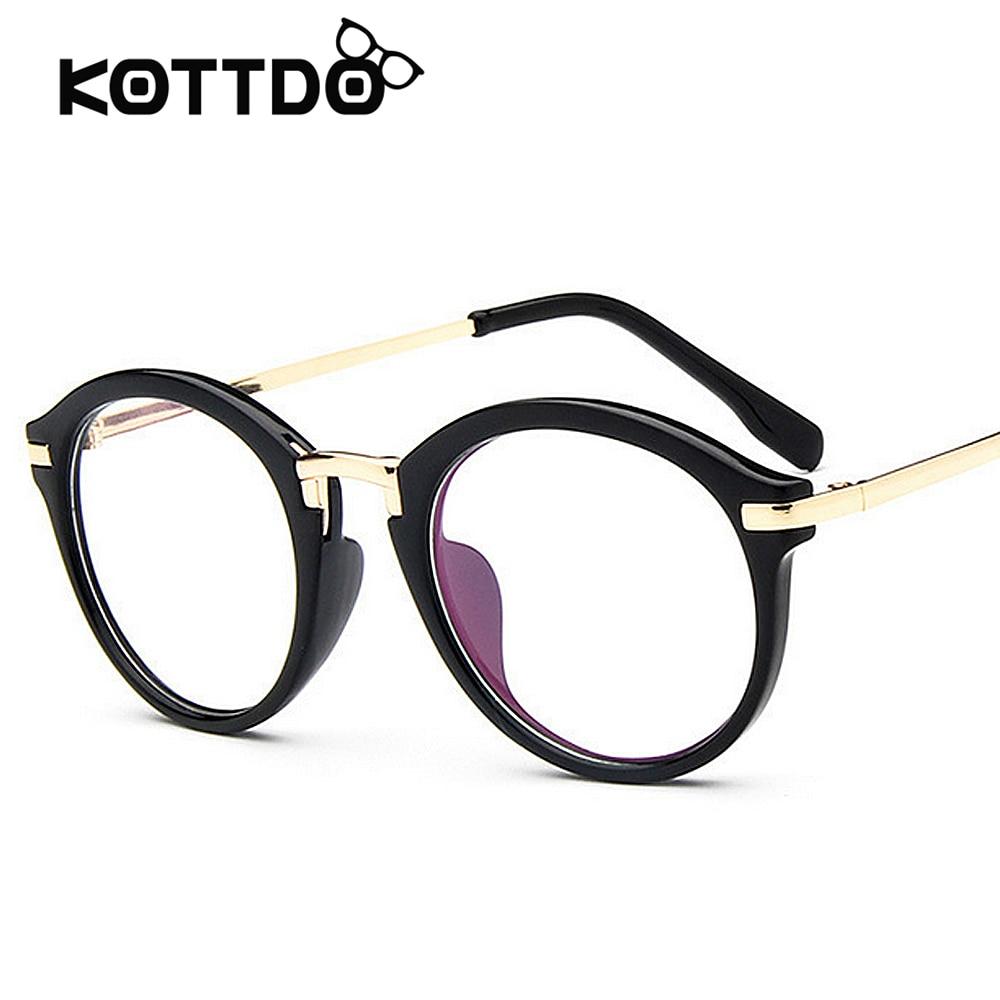 Retro Round Eyeglasses Frame Women S Brand Designer Men