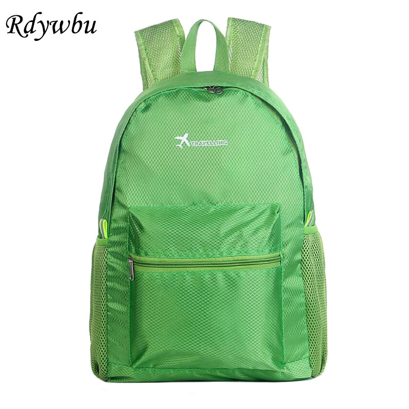 Rdywbu Lightweight Multifunction Waterproof Ultralight Men/Women Casual Travel Backpack Leisure Folding Shoulder Bag Daily H151