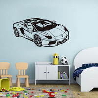 Classic Race Car Wall Decal Pvc Vinyl Creative Mural Automotive Decals Sofa Living Room Home Decor Accessories Free Shipping