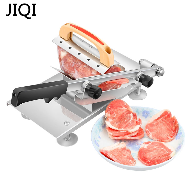 JIQI Meat Slicing Machine Alloy+Stainless Steel Household Manual Thickness Adjustable Meat And Vegetables Slicer