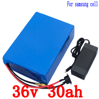36V 30AH lithium battery 36v 30ah battery for electric bicycle use 3.7V 3000mah samsung cell with 30A BMS+42V Charger