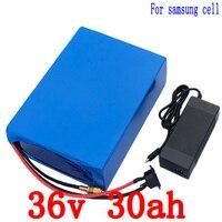 36 В 30AH литиевая батарея 36 В 30ah аккумулятор для использования электрической велосипед 3,7 В 3000 мАч samsung ячейке с 30A BMS + 42 В Зарядное устройство