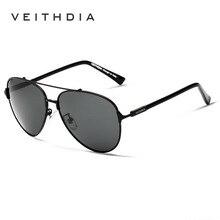 VEITHDIA Brand Fashion Men's Sunglasses Polarized Mirror Lens Eyewear Accessories Sun Glasses UV400 For Men 3802