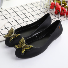 Mini Melissa 3D Bowtie Parent-child Shoes Women Jelly Sandals 2018 New Gold black
