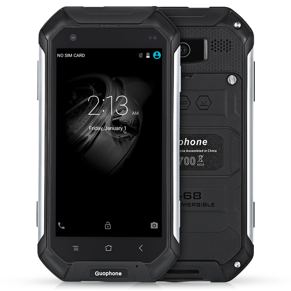 Guophone V19 4 5 Inch Android 5 1 3G Smart Phone IP68 Waterproof Dust And Shock