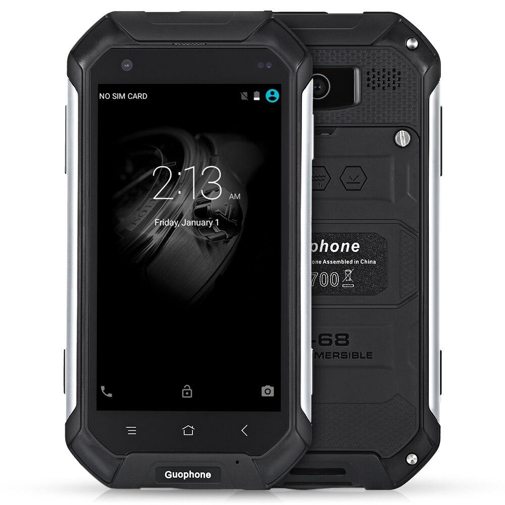 Guophone V19 4.5 Pouces Android 5.1 3G smartphone IP68 Poussière Étanche Et Résistant Aux Chocs MTK6580 Quad Core 2 GB RAM 16 GB ROM