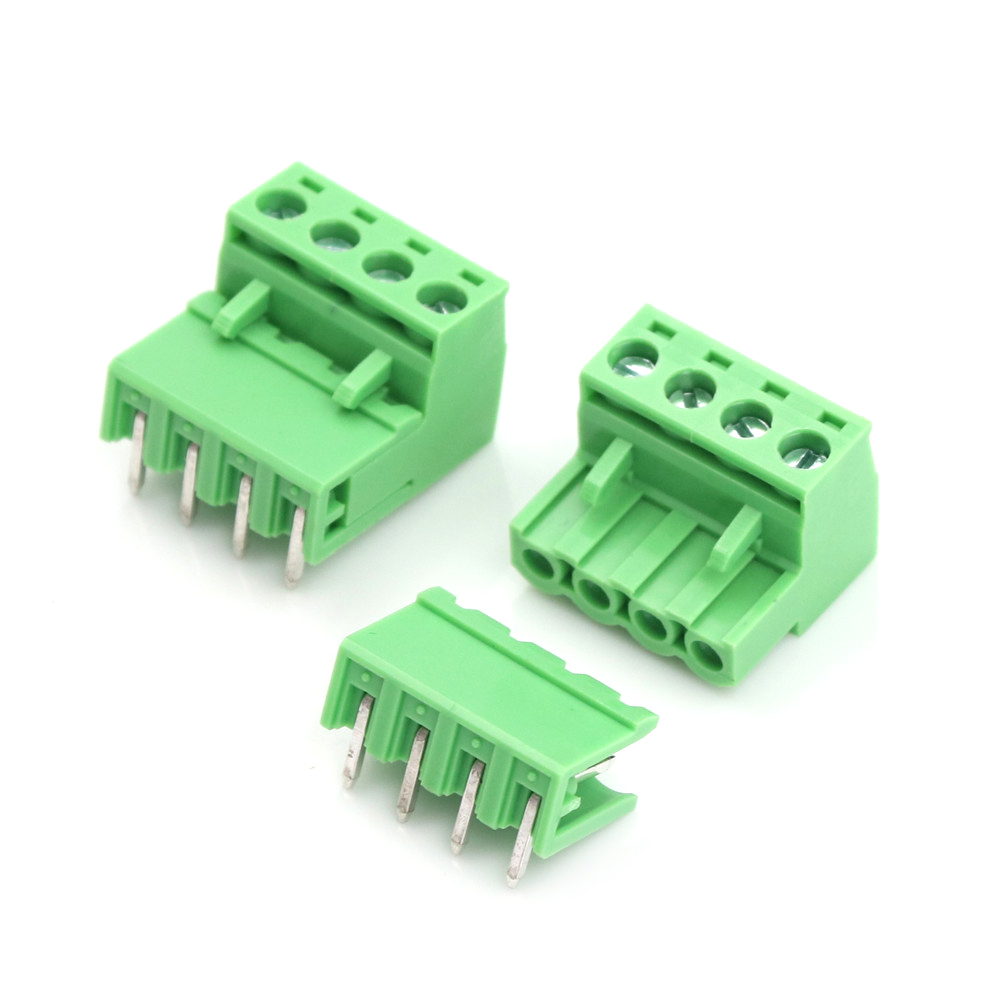 uxcell 5 Pairs 3.5mm Pitch 2Pin Pluggable Terminal Block Connector Male and Female for PCB