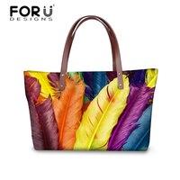 FORUDESIGNS 11.11 Women Handbags Tote Bags For Ladies Messenger Bags Plumage Woman Casual Shoulder Tote Cross-body Bags Blosas