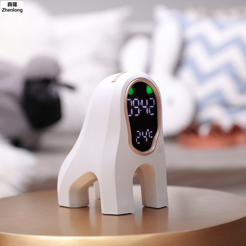 Intelligent Night Light Creative Wake Up Light Sleeping Music Alarm Clock Thermometer Electronics Led Children's Gifts Wangwang