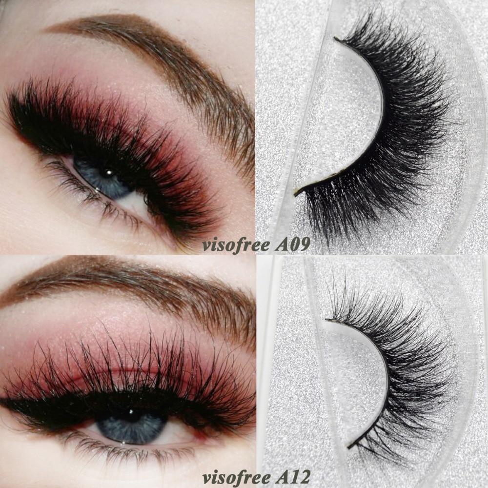 4dced60d80a Visofree Mink Lashes 3D Mink False Eyelashes Long Lasting Lashes Natural & Lightweight  Mink Eyelashes 1 pair Glitter Packaging