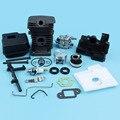 38 мм  покрытый цилиндром nikasil  комплект карбюратора с глушителем для Stihl 018 MS180 017 MS170  карбюратор для бензопилы  прокладка впускного коллектор...