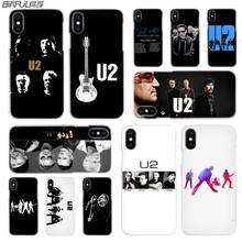 ac55b348f3d BINFUL iphone caso transparente coque para iphone X XR XS Max 8 7 6 s 6 Plus  5 5S 5c SE 4S 4 U2 Bono Joey Ramone banda