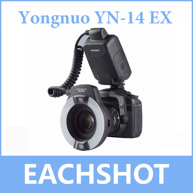 Yongnuo YN-14EX, Yongnuo YN-14EX TTL LED Macro Ring Flash Light for Canon 5D Mark II 5D Mark III 6D 7D 60D 70D 700D 650D 600D 3pcs yongnuo yn600ex rt auto ttl hss flash speedlite yn e3 rt controller for canon 5d3 5d2 7d mark ii 6d 70d 60d