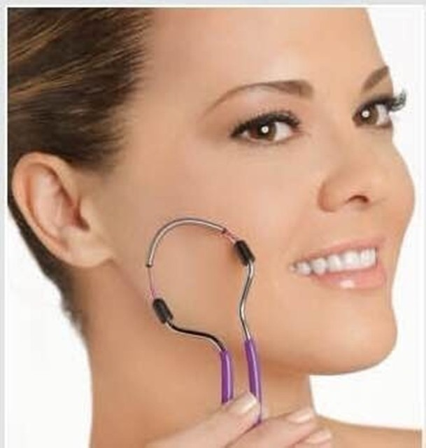 Mini Facial Hair Remover Spring Threading Face Defeatherer Hair Removal Epilator DIY Makeup Beauty Tool for Women Cheeks Eyebrow 3