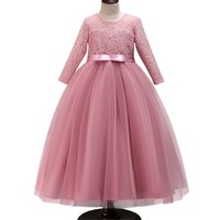 Girl Dress for Wedding Party Embroidery Gold Sequins Flowers Princess Girls Dresses Summer Girl Ball Gown Dresses 3 12 Years