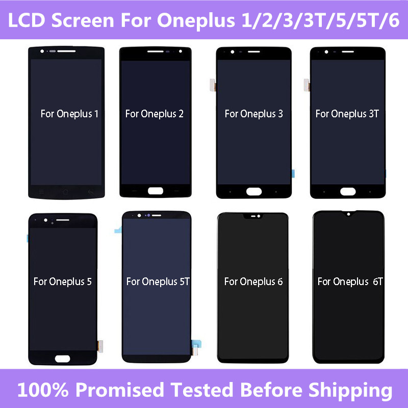 LCD & Touch <font><b>Screen</b></font> Digitizer Assembly For <font><b>Oneplus</b></font> 1+A0001 A2001 A3000 A3010 A5000 A5010 <font><b>A6000</b></font> A6010 LCD <font><b>Screen</b></font> For <font><b>Oneplus</b></font> 5 5T image