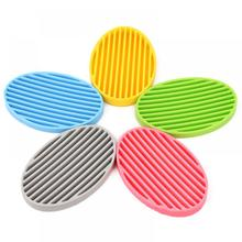 Creative Silicone Flexible Toilet Soap Holder Plate Bathroom Soapbox Soap Dish