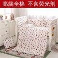 Baby Bedding Set For Girls pattern 100% Cotton Bedding Suit 5PCS/set newborn baby bedding set for girl& boy