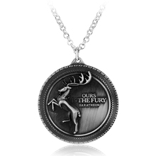 Новейший фильм ювелирные изделия Игра престолов олень Бакс дом Ланнистер 3D монета Винтаж фильм кулон ожерелье ювелирные изделия