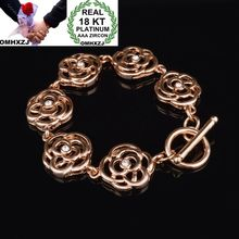 OMHXZJ Wholesale Personality Fashion OL Woman Girl Party Wedding Gift Rose Gold Hollow Chain 18KT Bracelet BR20