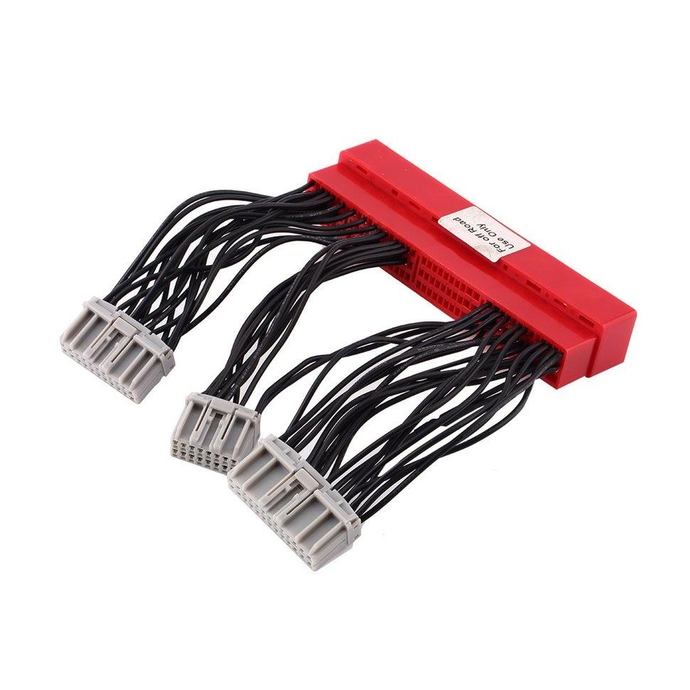 5pcs Car Vehicle OBD2A To OBD1 Replace ECU Jumper Conversion Wiring Wire Harness