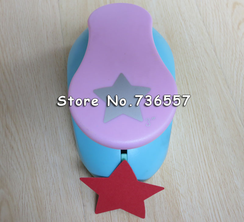 Super Large 3'' Lucky Star furador de papel DIY Craft Punch EVA Creative Embosser Punch Card making Scrapbooking S2886s super star 3