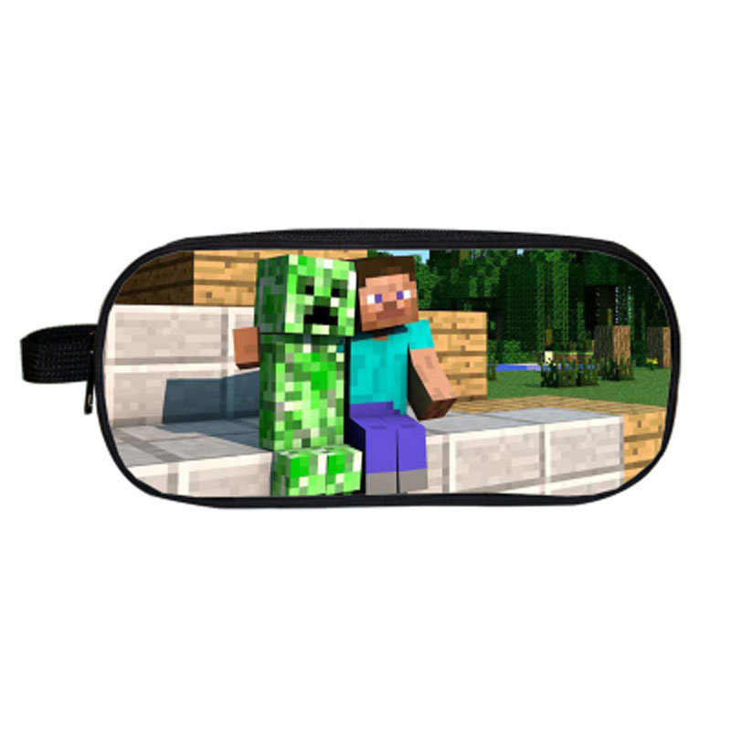 My World Minecraft Pencil Case Bag for Boys Girls School Stationery Gift Kawaii Big Pencilcase Pen Box School Supplies Gift wuben led flashlight tactical torch 18650 battery usb rechargeable lights waterproof led lamp cree portable camping lantern l50