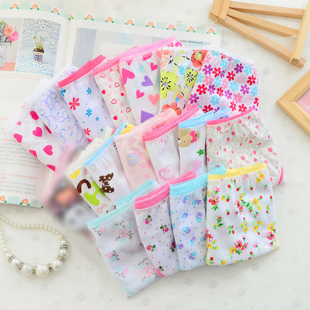 6pcs/pack 2018 Fashion New Baby Girls Underwear Cotton Panties For Girls Kids Short Briefs Children Underpants