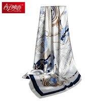 100 Pure Silk Scarves Echarpe Femmes Winter Scarf Chinese Pure Silk Square Scarf Accessory Szalik Damski