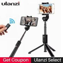 Ulanzi selecionar 3 em 1 Telefone Tripé Selfie Vara Bluetooth 3.0 Controle Remoto tripé Selfie para iPhone Huawei Xiaomi Smartphones Android