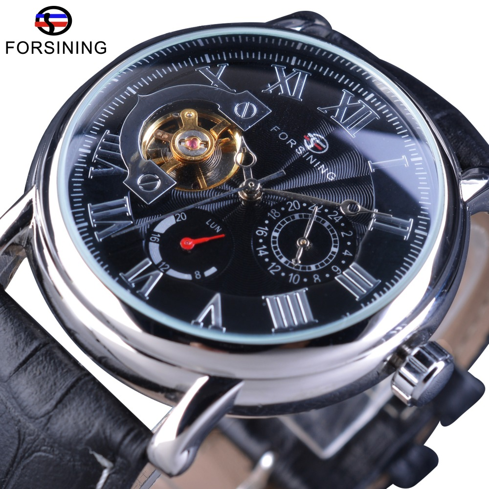 Forsining Steampunk Series Tourbillion Design Genuine Leather Fashion Swirl Design Men Automatic Wrist Watches Top Brand Luxury Forsining Steampunk Series Tourbillion Design Genuine Leather Fashion Swirl Design Men Automatic Wrist Watches Top Brand Luxury